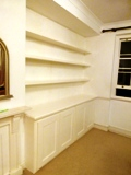 N13-Palmers-Green fitted made to measure floating shelves